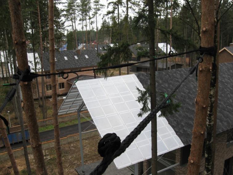 Стяжка и закрепление аварийных деревьев